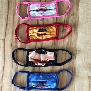 Disney Store face masks (set of 4)
